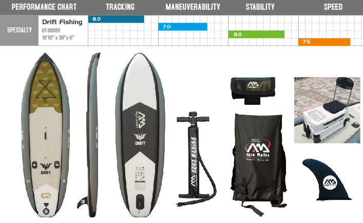 Drift SUP board with accesories